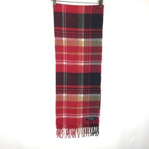 Pure 100% Cashmere Scottish Plaid Knit Scarf